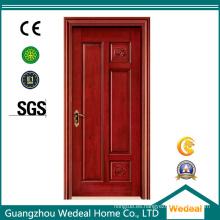 Puerta de madera sólida interior / exterior con base sólida para casas