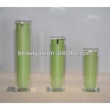 15ml 30ml 40ml 50ml 80ml 100ml 120ml Emballage carré Bouteille cosmétique sans air