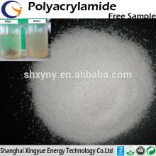 Pó de poliacrilamida aniônica de alto peso molecular elevado para desidratação
