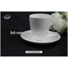Niza taza de café de cerámica al por mayor y platillo, tazas conjuntos de artesanía de Navidad