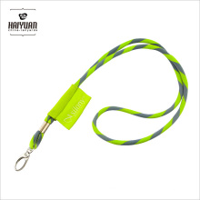 Round Braid Nylon Lanyard-100 Pack