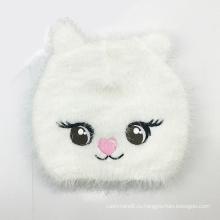 Дети ребенок дети перо пряжи пушистый вязаный Кот вышивка Hat Шапочка (HW636)