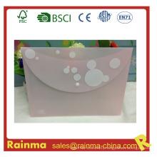 Plastic File Pocket Document Pocket for A4 Paper