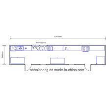 Столовая / Конференц-зал / Спальня / Одноместный / Контейнерный дом (shs-fp-kitchen & dining001)