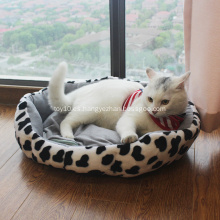 Cama lavable duradera redonda de lujo para mascotas de marca