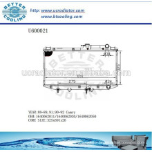 RADIATOR 1640062021/1640062030/1640062050 for TOYOTA 90-92 CAMRY Manufacturer And Direct Sale!