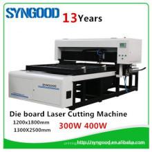 Cortador laser de madeira 400w Syngood 1200 * 1800 400w para o molde da placa da espuma