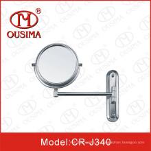 Mueble de pared montado espejo cosmético redondo, espejo de maquillaje