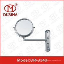 Movable parede montado espelho cosmético redondo, espelho de maquiagem
