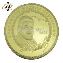 Moneda famosa del recuerdo de la superestrella del presidente de la cara famosa profesional del oro del metal personalizado