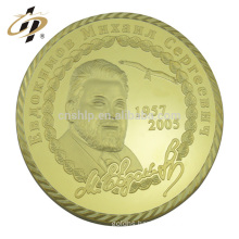 Professional custom metal gold famous face president superstar memorial souvenir coin