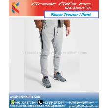 Zip fleece pant trouser for men and women fashion style design