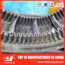 90 Degrees Ep Nn Cc Corrugated Sidewall Rubber Conveyor Belt
