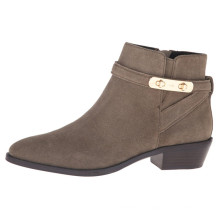 классический дизайн внутреннего блока пятки пинетки женщины ботильоны обувь крытые ботинки