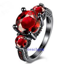Черное покрытие цвет CZ ювелирных изделий кольца (R0846)