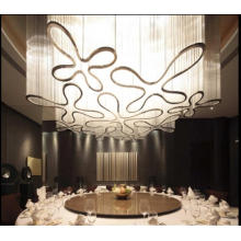 Decorative Flower Iron and Glass Chandelier Project Lighting (KAM1201)