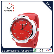 Promotion Sport Wrist Plastic Fashion Silicone Slap Watch (DC-097)