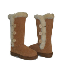 New Fashion Design for Womens Suede Winter Boots Women winter bailey button triplet warm fur boots supply to Philippines Manufacturer