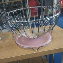 Metal oval wire fruit basket for livingroom