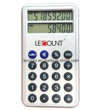 Calculadora do conversor do Euro da exposição de linha 2 (LC382)