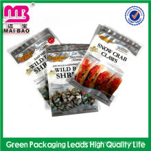 Premium laminated material aluminum foil high barrier 3 side seal vacuum bag sea food packing