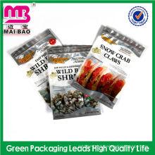 Premium laminated material aluminum foil high barrier 3 side seal vacuum bag sea food packing