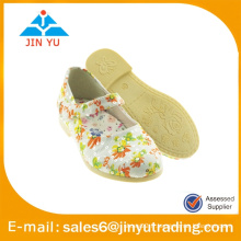 Chaussure fille plateforme avec fleur élégante