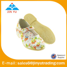 platform girl shoe with stylish flower