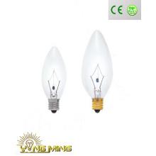 CE RoHS Decoração Incandescente Candle Bulb