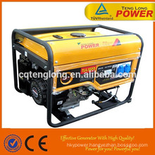 hot sale low fuel consumption 6500w 3phase powertrain gasoline generator set