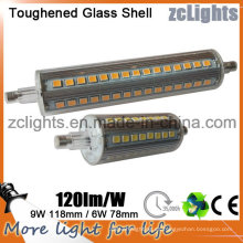 118mm SMD2835 9W LED R7s bulbo de doble final