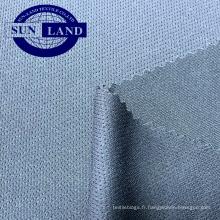 Tissu en maille d'oeillet 100% polyester Silver Dry Dry Fit pour vêtement