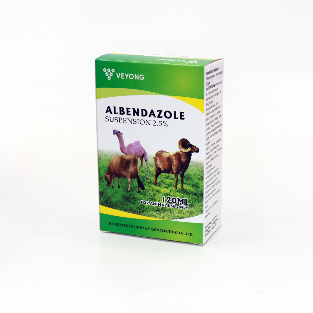Albendazole Suspension for Livestock Use 2.5%