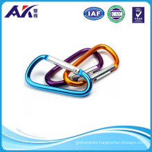 Assorted Colors D Shape Spring Loaded Gate Aluminum Carabiner for Home, RV, Camping, Fishing, Hiking, Traveling and Keychain
