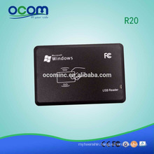 OCOM-R20 RFID Smart Card Reader USB Plug and Play USB/PS2/RS232 Port