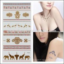 OEM Vente en gros de tatouage brillant de vente de tatouage Autocollant de haute qualité tatouage de corps V4628