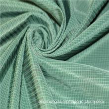 Tejido de sarga de tela escocesa plana Check Oxford al aire libre Jacquard 100% tela de poliéster (X045)