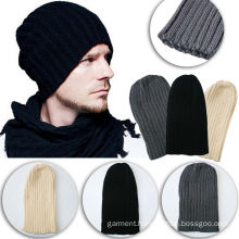 Unisex Oversized Cap Ski Warm Knitted Wool Winter Beanie
