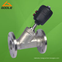 Stainless Steel Y Pattern Pneumatic Flanged Angle Seat Valve (GAYASV)
