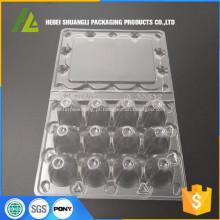 Bandeja de codorna de plástico 12pc transparente