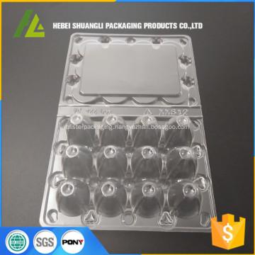 transparent plastic 12pc quail tray