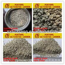 Medios de filtro médicos naturales de la piedra de HY-2-4mm para el tratamiento de aguas