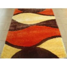 Die Teppichfliese mit Stretchgarn und Seide
