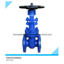 Dn50 Bolt Bonnet DIN Flange End Cast Iron Gate Valve