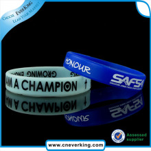 Factory Price with Logo Printing Motivational Silicone Wristbands