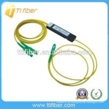 2 vias caixa de plástico mini SC APC FBT divisor de fibra óptica