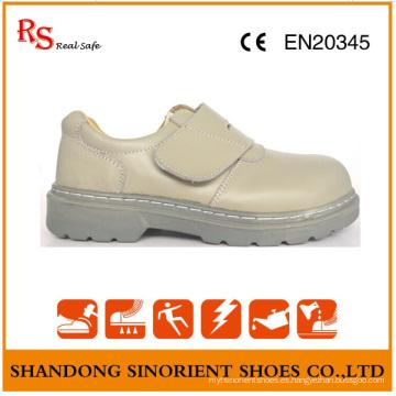 Zapatos de trabajo Goodyear con cuero de acción blanco RS807