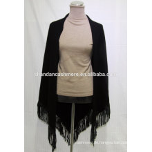 Mode stricken Rand Saum benutzerdefinierte Winter Schal, 100% Kaschmir Dreieck Schal