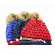 Promoção Barato Pompon tricô Hat