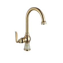 YL-5906-33AP European gold plated marble stone kitchen sink faucet